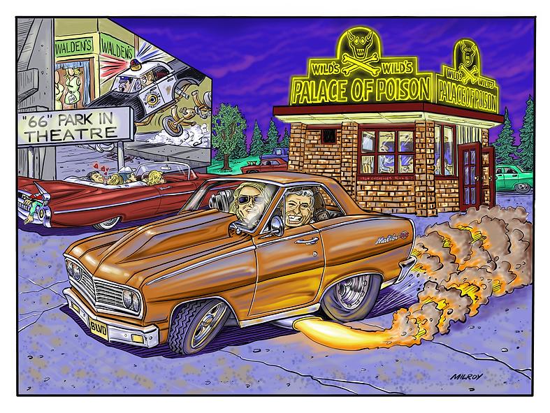 car caricature 64 Chevelle Glen Walden.B
