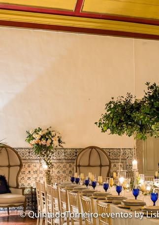 Green wedding at Quinta do Torneiro in Lisbon, Portugal