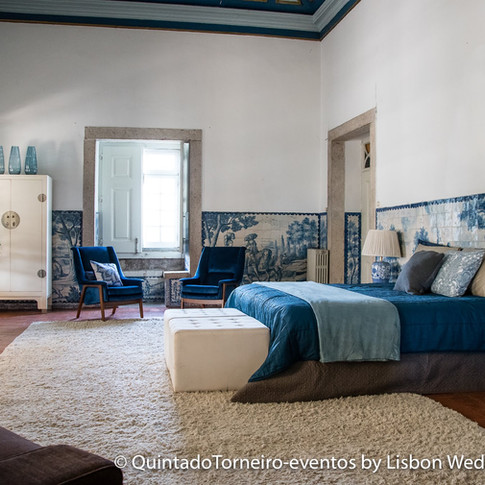 Master Suite for the bride day at Quinta do Torneiro in Portugal