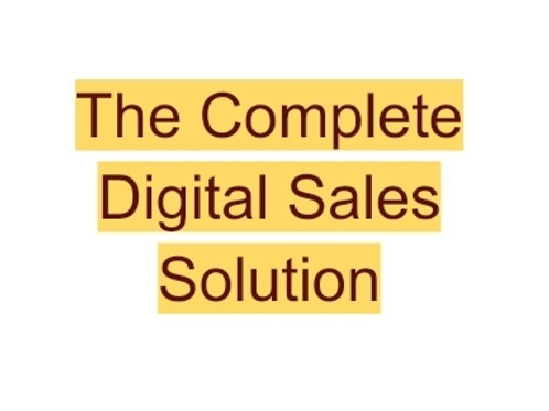 The Complete Digital Sales Solution-Buy One Month, Get Two Free!