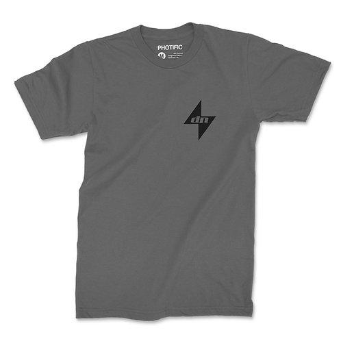Grey DigiNinja Shirt with Black DigiNinja Star and Logo with DigiNinja on Back