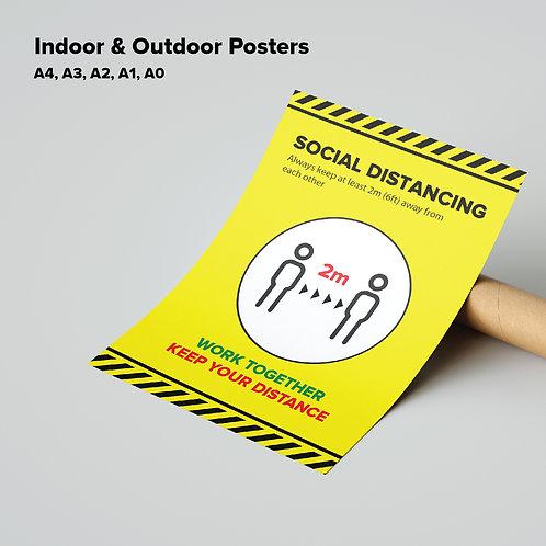 Indoor Social Distancing Poster 2
