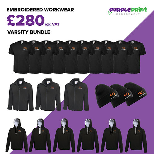 Varsity Bundle - Embroidered