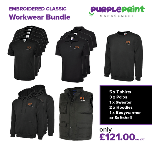 Classic Workwear Bundle - Embroidery