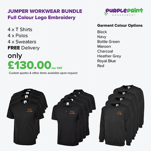 Jumper Workwear Bundle - Embroidery