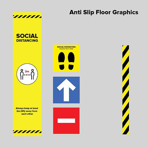 Social Distancing Anti Slip Floor Graphics