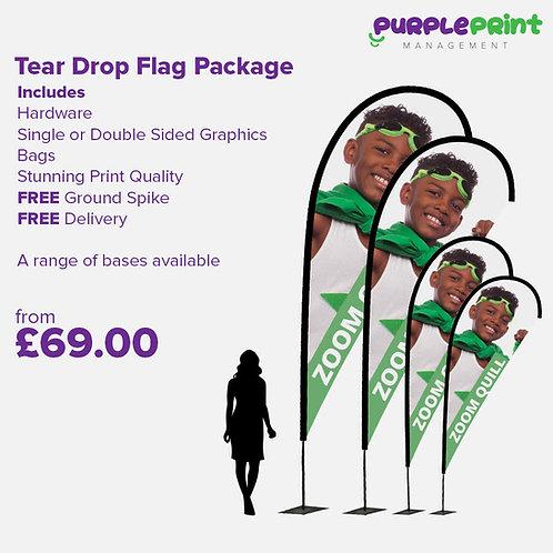 Teardrop Flag Package