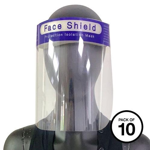 Face splash shield (Pack of 10)