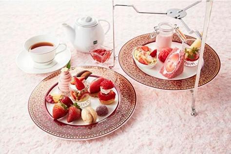 ラウンジを真っ赤な苺メニューがジャック!ご褒美感いっぱいの「苺フェア」がホテル日航大阪で始まってます