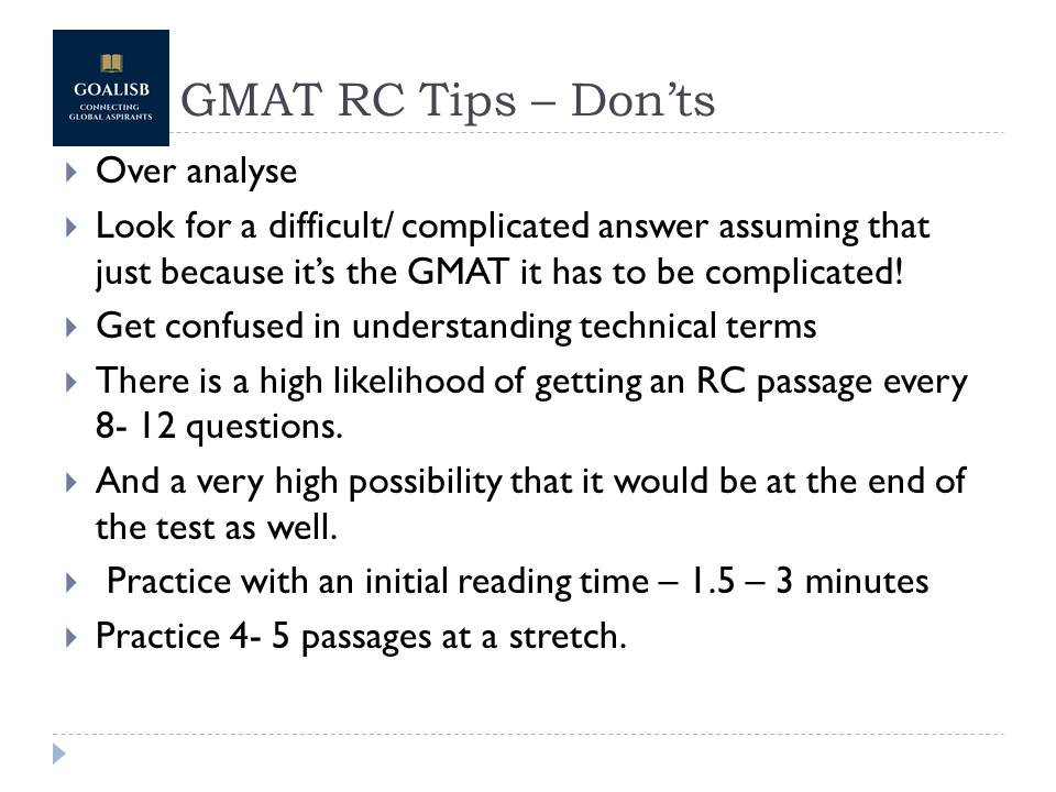 Tips for GMAT reading comprehension