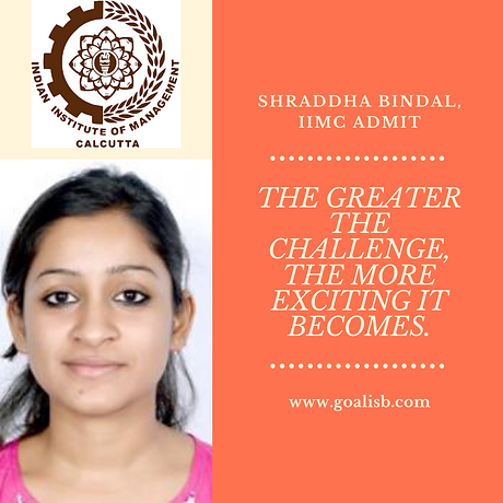 Shraddha Bindal, iimc admit.png