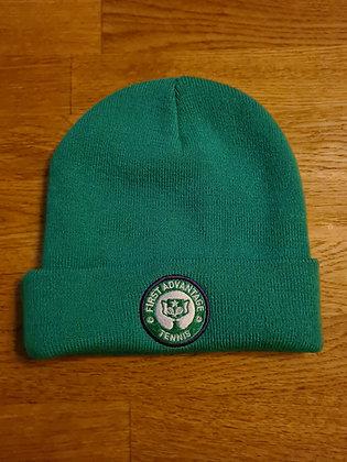 Green beanie hat - First Advantage Tennis