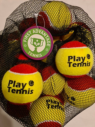 PLAY TENNIS BALLS RED (per pack of 24)