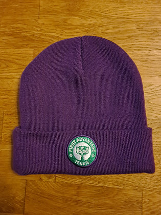 Purple Beanie Hat - First Advantage Tennis