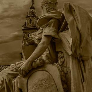 """""""Estátua do Palácio Tiradentes e a Antiga Catedral"""""""