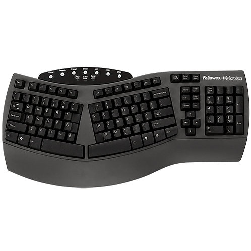Fellow Microban Ergo Keyboard Split Design - 39229