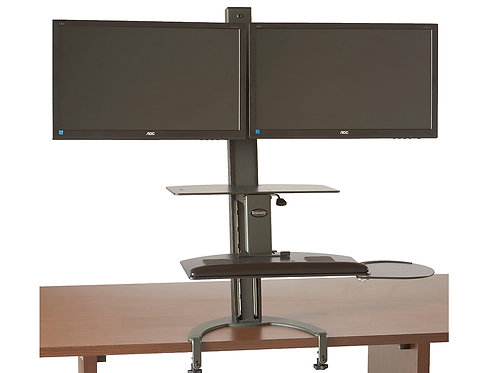 TaskMate Go Dual Monitor Sit-Stand Workstation - 93902