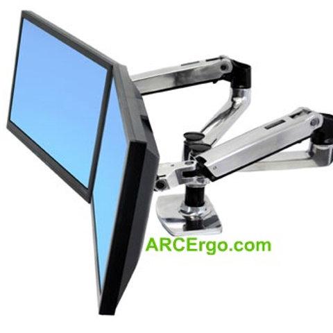 Deluxe Desk Dual Side by Side Mount LCD Arm - 69502