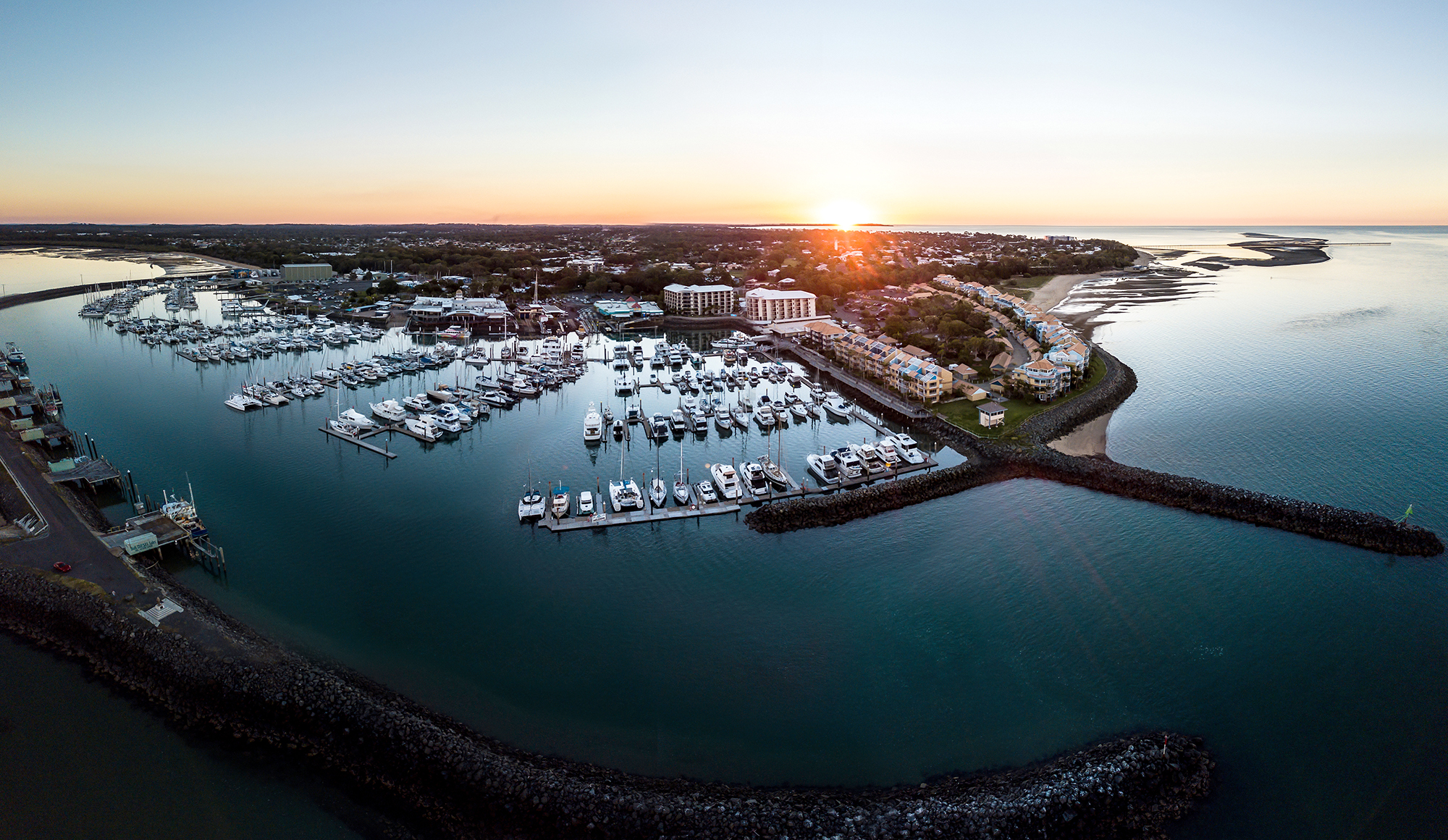 Winter Sunset at Urangan Marina