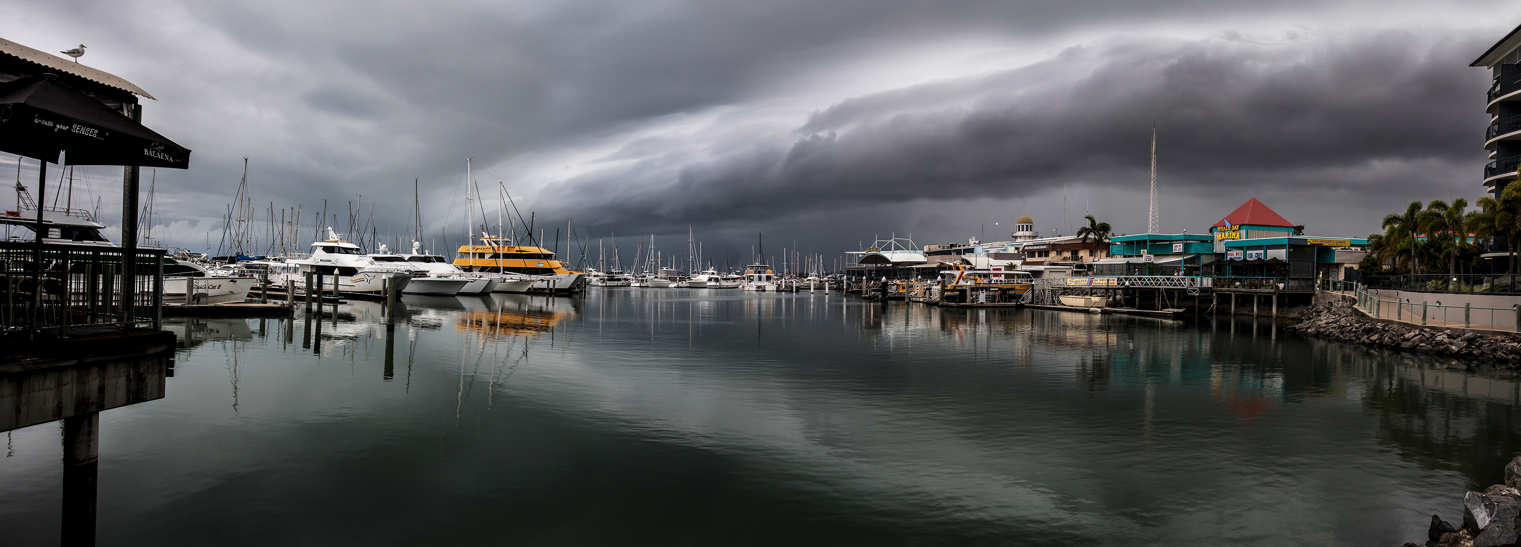 Mirrored Storm at the Marina