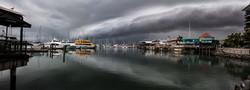 Mirrored Storm at the Marina