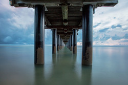 Underneath Urangan Pier