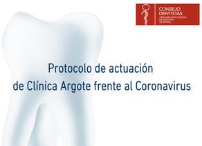 Protocolo de actuación de Clínica Argote frente al Coronavirus