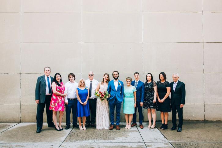 Family portrait wedding Toronot city hall