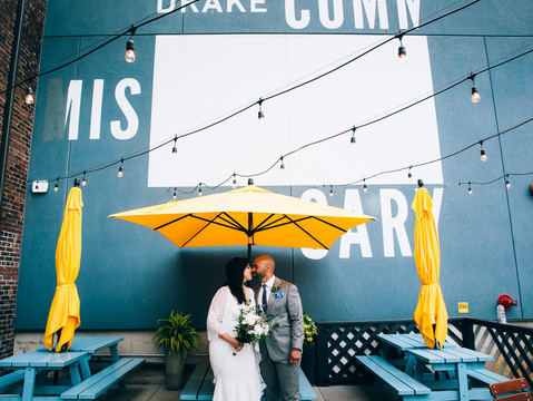 Rania & Cameron's Intimate Urban Toronto Wedding   Drake Commissary