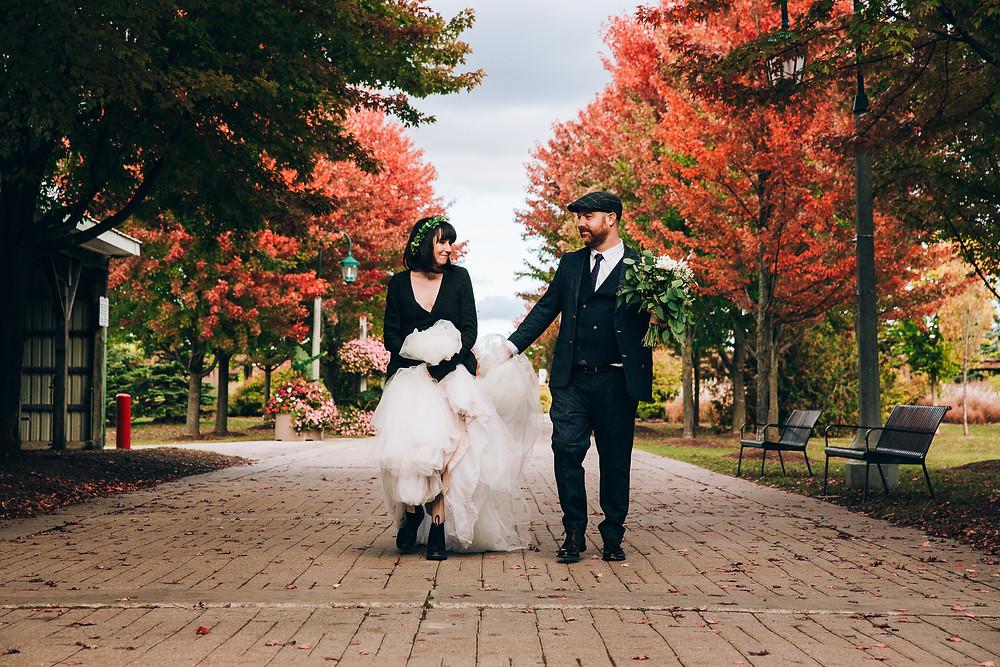 Toronto Fall park wedding