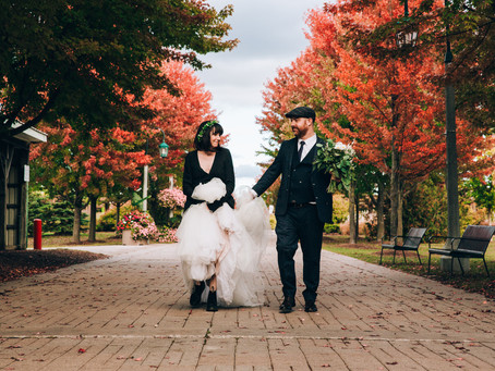 Liz & Ian's Intimate Autumn Park Wedding | Toronto