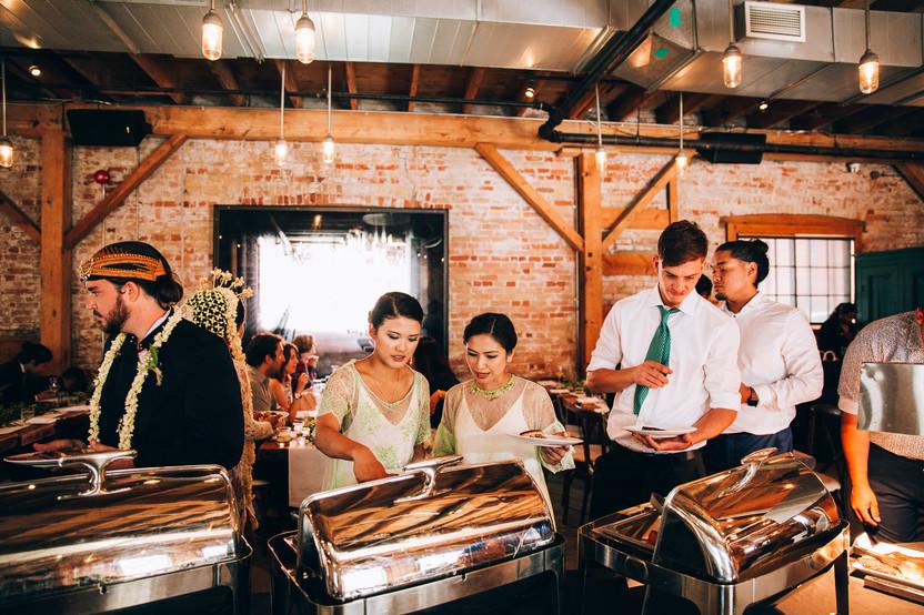 wedding buffet at Archeo Toronto