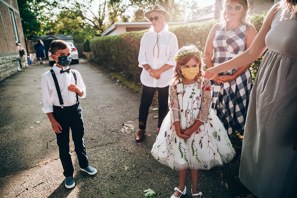 Pandemic wedding masks