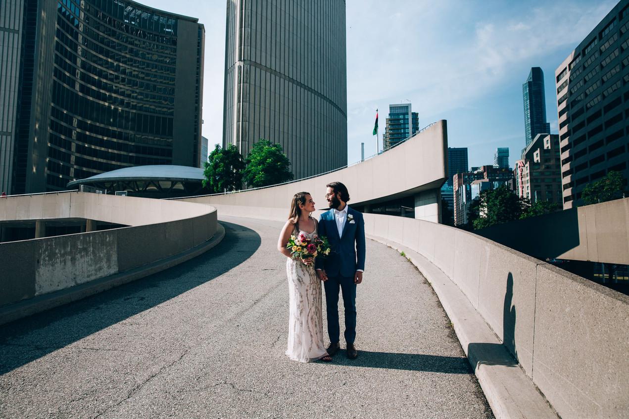 Toronto City hall wedding portraits