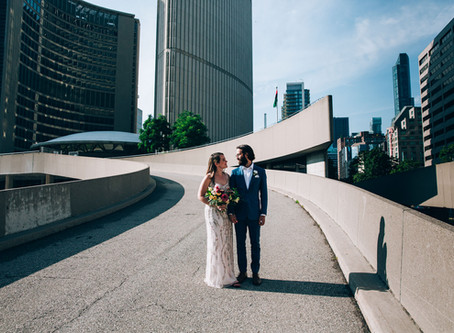 Laura & Patrick's City Hall Wedding | Toronto