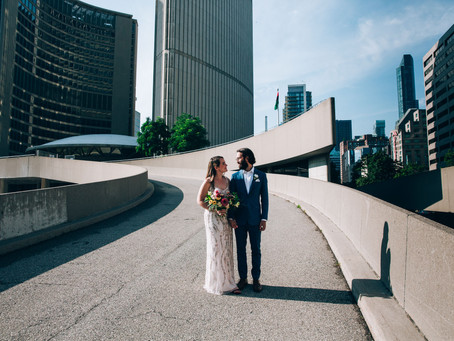 Laura & Patrick's City Hall Wedding | Toronto