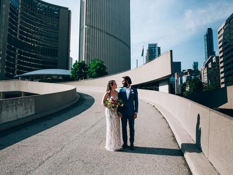 Laura & Patrick's City Hall Wedding   Toronto