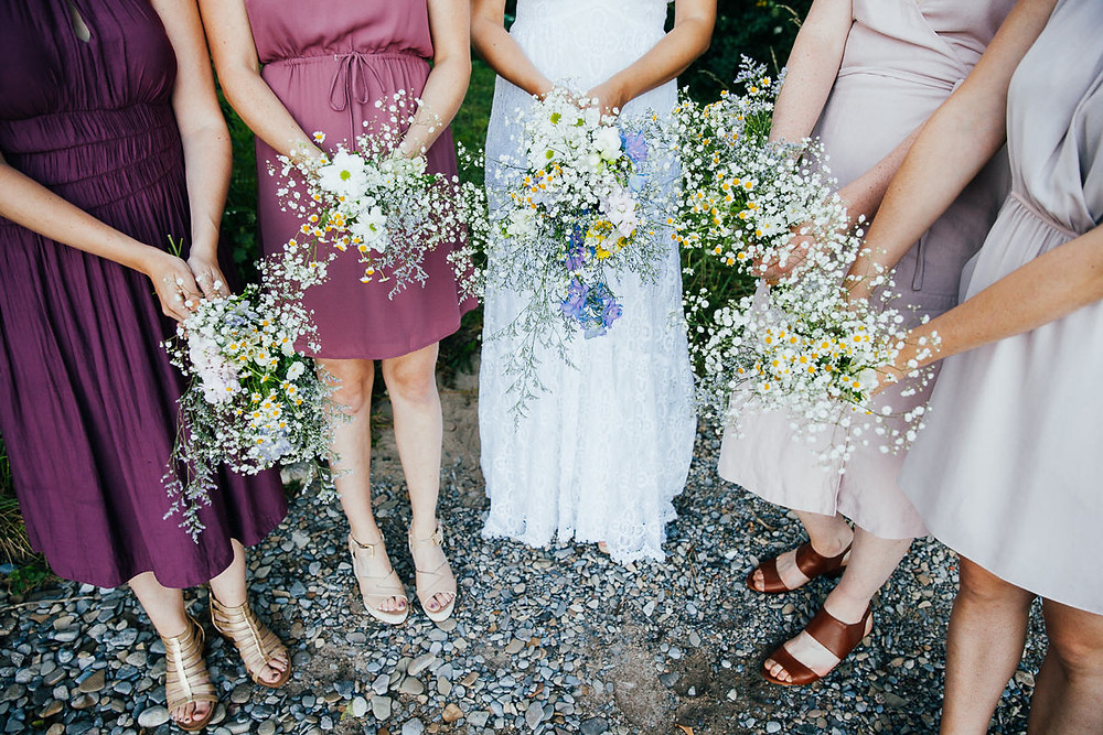wild flower bridal bouquets