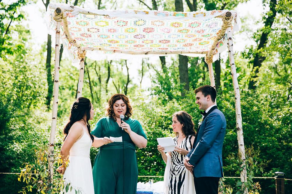 diy wedding chuppah