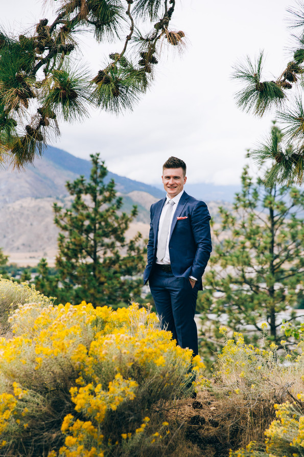 groom portrait penticton BC