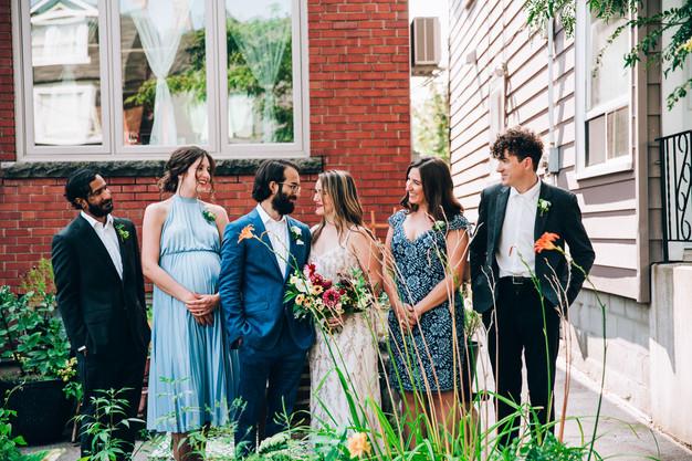 wedding party portrait in Toronto