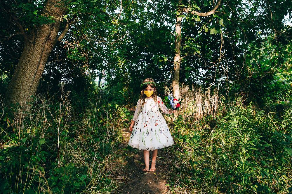 Flower Girl wedding mask