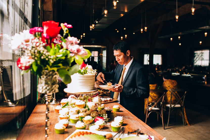 Desert table at wedding