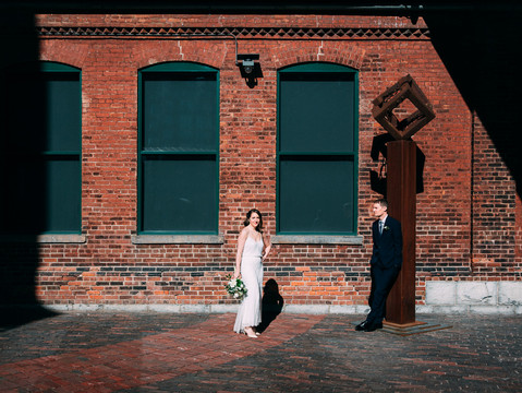 Laura & Peter's Fermenting Cellar Wedding | Toronto Distillery District