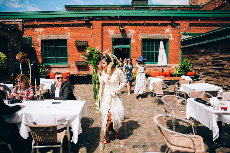 Archeo Toronto distillery district wedding