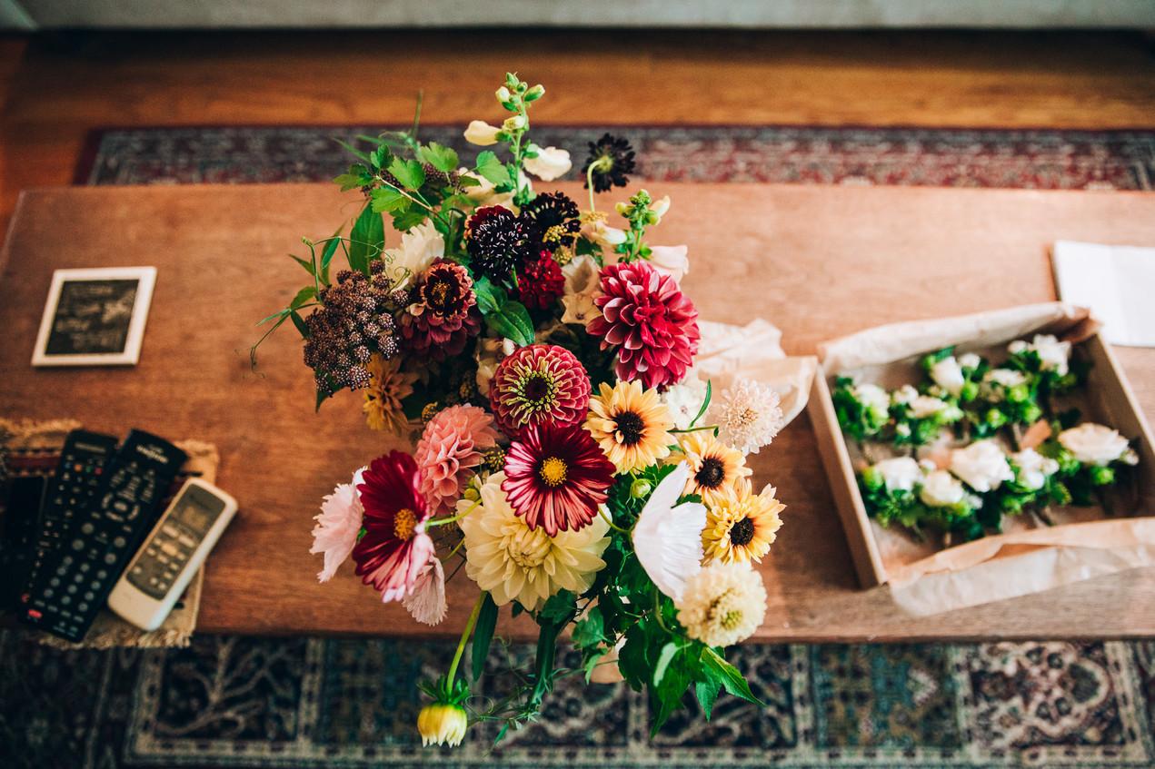 my luscious backyard wedding bouquet