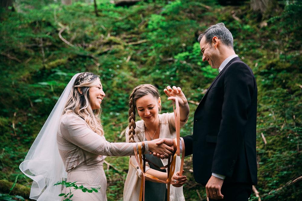 Revelstoke British Columbia forest elopement wedding