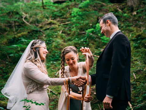 Ashley & Brent's Mini Forest Wedding | Revelstoke, British Columbia
