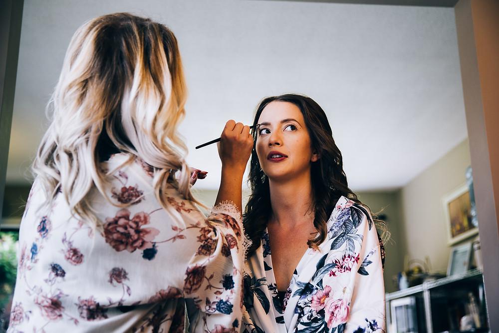 okanagan bridal make-up