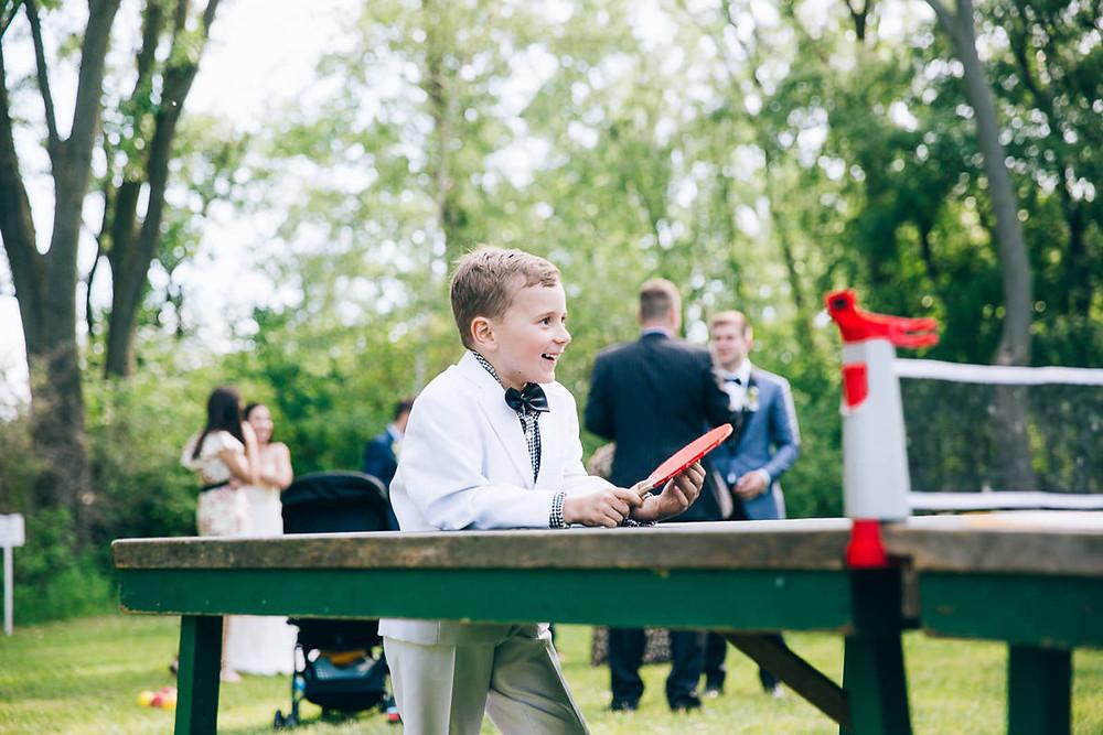 ping pong table wedding